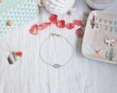 Ankle bracelet 3 triangle / chevron in solid 925 sterling silver, fine jewelry, woman, gift idea by Myo jewel