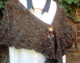 "Shawl in shades of Brown, ""Variation"" collection"