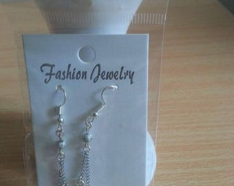 Double charm earrings made by hand