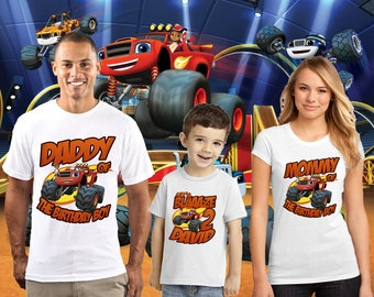 Blaze and the Monster Machines Birthday Shirt, Blaze Custom Shirt, Personalized Blaze, Blaze family shirts, Birthday t-shirts