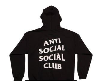 Antisocial Social Club Hoodie Yeezus Hoodie Kanye Hoodie Unisex Black Hoodie