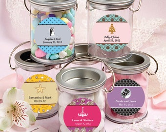 50 Personalized Silver Mini Paint Can - Set of 50