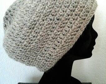 Bonnet mixte au crochet en pure laine