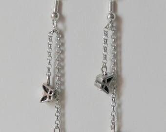 Earrings dangling butterflies