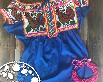 Zapotec embroidered blouse