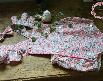 Romper liberty wiltshire sweet pea