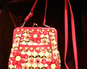 HAPPY bag, funky cocktail/day bag, plastic flowed purse, purse with an attitude,fun purse, springtime purse,crossbody day bag