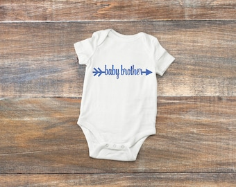 Baby brother onesie Little brother coming home outfit Cute new baby boy tee Cool baby boy outfit New brother outfit My new baby boy Bodysuit
