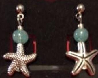Aqua Earring--Starfish