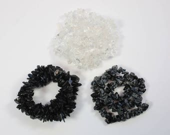 Gemstone Beads, Quartz Beads, Snowflake Obsidian Beads, Chip Beads, Organic Shape Beads, Natural Stone, DIY, BS184