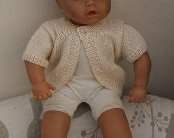 little girl hand knitted bolero