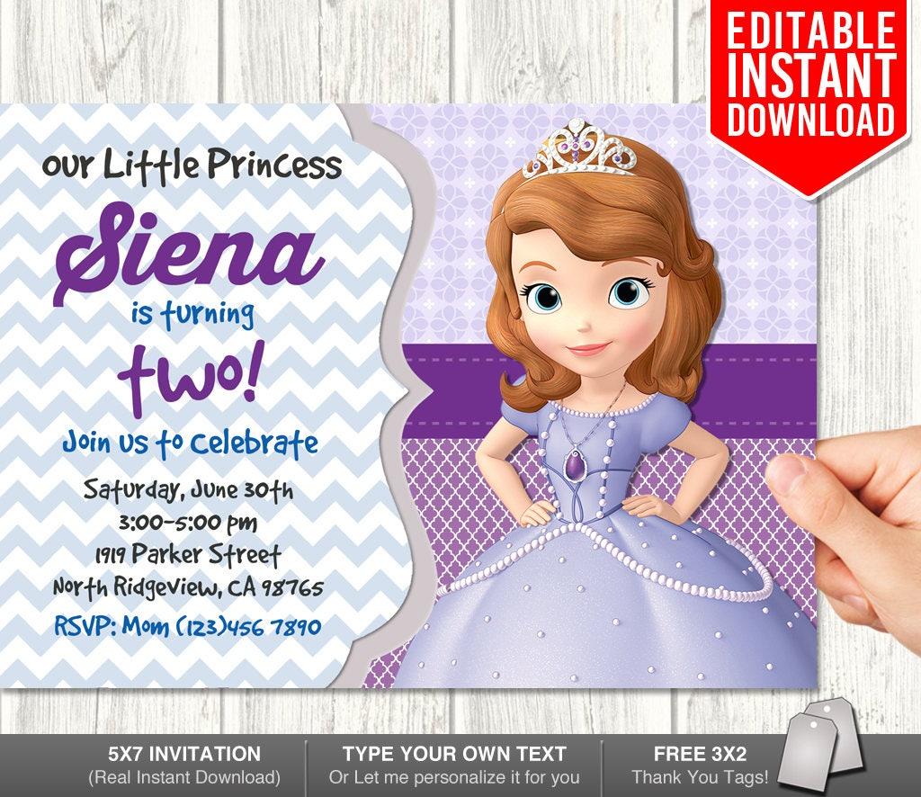 Sofia The First Birthday Invites Magglebrooks