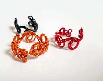 Spiral ring modern and colorful - aluminum