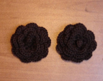 """set of 2 chocolate flowers crocheted """"pink style"""""""