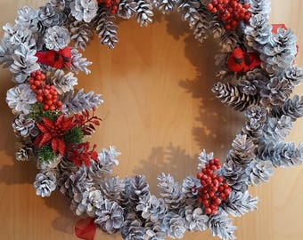 Hand Made Pine Cone Wreath