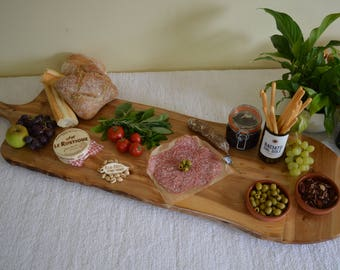 4' Wooden Platter with paddle handle