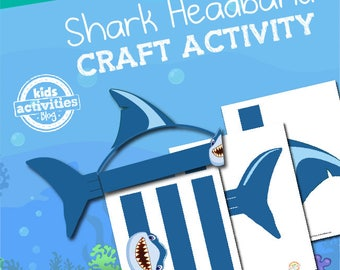 Shark Headband Printable