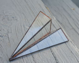 Glass Paper Airplane