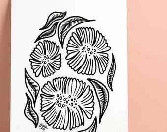 3. Flowers & Leaves — Print