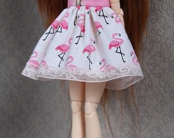 Pink flamingos - Pullip/Blythe dress