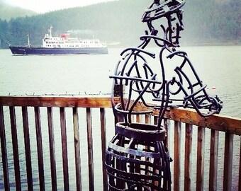 Kilted Man sculpture