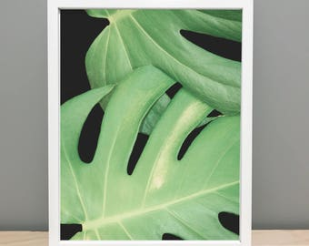 Abstract Leaf Printable Art