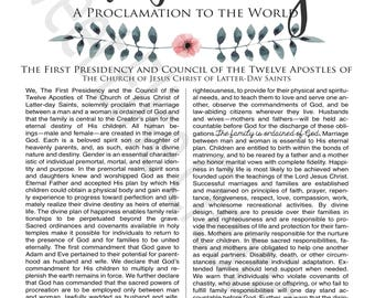 Family Proclamation Digital Print LDS Family Proclamation