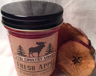 Country Moose Apple Candle