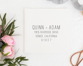 Return Address Stamp, Address Stamp, Custom Address Stamp, Wedding Return Address Stamp Personalized Return Address Stamp Rubber Stamp No.20