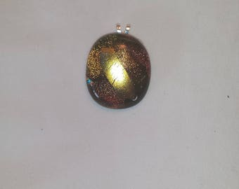 dichroic glass pendent handcrafted