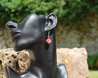 """Earrings """"Strawberry Sorbet""""."""