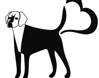 Dog svg file SVG Dog Initials SVG Digital cutting file Love dog svg