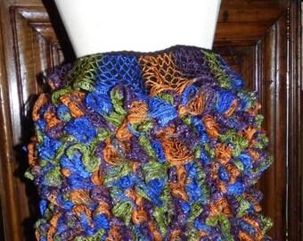 lace crochet women sashay yarn ruffle skirt size S