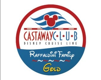 Personalized Castaway Club Member Status Button- Disney Cruise Button - Cruise Pin - Gold Silver Platinum Castaway Club - Disney Cruise Pin
