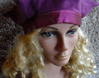 Beret wool and taffeta Purple Star