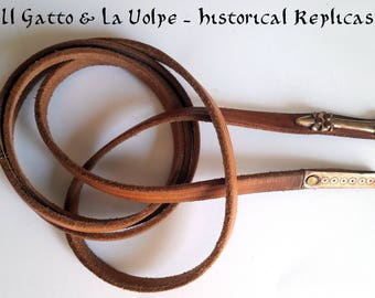 Tiny leather and bronze medieval belt for reenactment