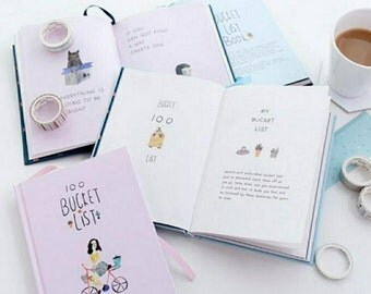 Bucket List Journal, Wedding Bucket List, Gift for Couples, Wedding Gift, Bucket List Book, Retirement Gift, Traveler's Notebook, To Do List