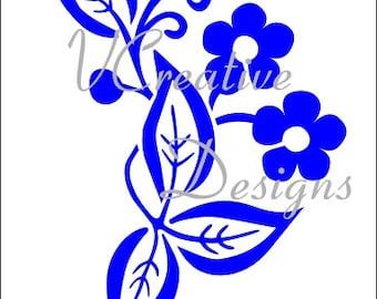563 Blossom stencil