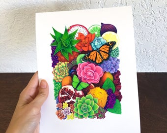 Bloom Limited Edition print of original colored pencil drawing