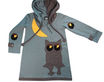 OWL hooded dress