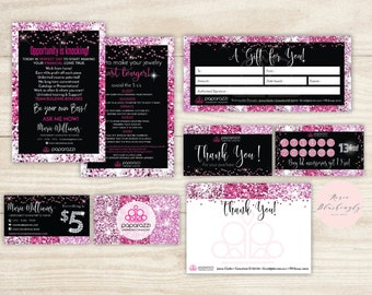 Bundle Paparazzi Business Cards, Free Personalized, Paparazzi Jewelry Consultant Card,Glitter, Marketing Kit For Vistaprint or Home Printing