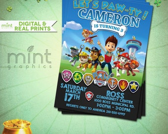 Paw Patrol - Paw Patrol Birthday - Paw Patrol Party - Paw Patrol Printable - Paw Patrol Birthday Invitation - Paw Patrol Invitation
