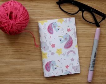 Unicorn NOTEBOOK,Travelers,diay, Journal, Memory Journal, Artist Gift,Art Notebook,cute,magic,unicors,kawai