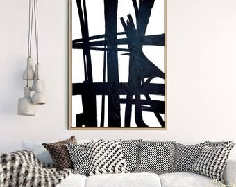 Abstract Art Print, Minimalist Design, Black And White Art, Abstract Canvas Print, Giclee Print, Home Decor, Wall Decor, Wall Art
