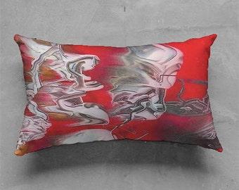Fiery Swirl Pillow