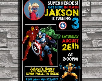 Super Hero Birthday Invitation,Superhero Birthday Invitation, Superhero Birthday Party, Superhero Party Invitation,Super Hero Birthday Party