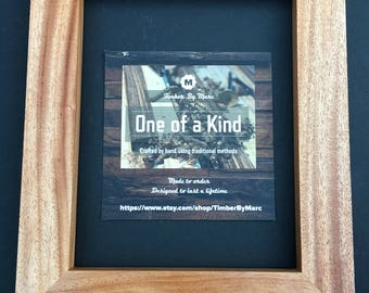 African Mahogany Wood Picture Frame 8x10