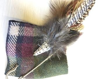 Bespoke feather brooch