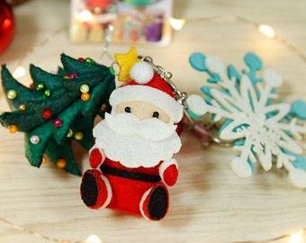 DIY Kit Christmas Key Ring / Keychain / key fob / Christmas Gift / Christmas Decoration