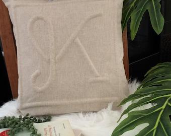 "Monogram ""K"" pillowcase"